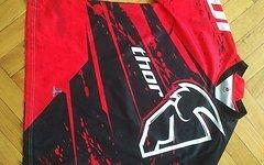 Thor Phase Jersey XL langarm Trikot schwarz weiß rot Team MX Motocross Enduro