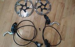 Shimano XTR M975 Bremsen Set mit XTR Bremsscheiben - wie neu