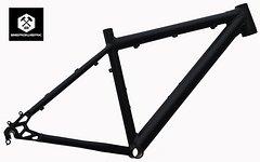 """Bergwerk Mercury Mountainbike Rahmen 45 cm in schwarz matt 26"""""""