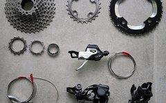 Shimano XT 2x10 Schaltgruppe mit RD-M786 Shadow+ Schaltwerk und FD-M786-D Direct Mount Umwerfer, inkl. Kassette