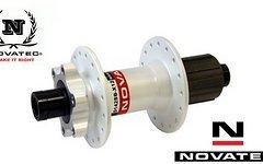 Novatec Disc Hinterrad Nabe 6-Loch weiss Industrielager D142SB-X12 Steckachse