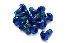 Reverse Components Bremscheiben Schrauben 12 Stück blau UVP 6,90