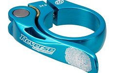 Reverse Components Sattelschelle LONG LIFE Ø34.9mm Light Blue Seatclamp with brass washer- LONG LIFE clamp 46g