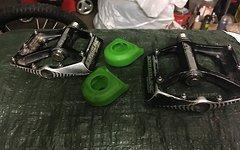 Race Face Crank Boots grün *guter gebrauchter Zustand*