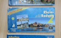 Bikeline Radtourenbuch Rhein-Radweg 1 + 2 + 3 - GPS