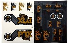 Original Fox Decals AM Heritage Aufklebersatz für Federgabel + Dämpfer * GOLD / kashima *
