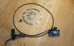 Shimano BR-M447 Scheibenbremse + Hebel, Adapter und Scheibe