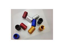 Brakepads.de 4 Stück Autoventil Kappen Aluminium CNC Schrader AV Silber Rot Blau Schwarz Ventilkappen Caps