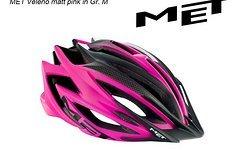Met Helm Veleno in 54-57cm (M) matt pink