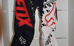 Fox Demo DH Pant schwarz/weiß, Größe 34