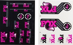 Original Fox Racing Shox Decals AM Heritage 2xAufklebersatz für je Federgabel & Dämpfer * PiNK PANTHER MUSCHI *