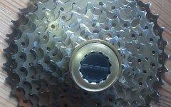 Recon MS Titan-Aluminium-Kassette, 10-fach, gold, 11-36, gebraucht, 200g leicht, guter Zustand