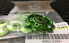 NC-17 Schaltwerksröllchen Eloxiert Set grün -NEU!-