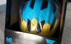 7Idp M2 Helm matt Cyan Yellow pink Gr. M