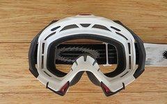 Oakley Mayhem MX Goggle Weiß/Schwarz mit Abreissfolien