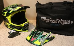 Troy Lee Designs D3 Nightfall MIPS Fullface Helm S *NEU*
