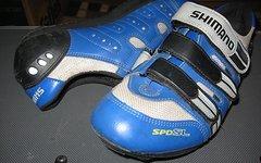 Shimano SPD SL Clickpedalschuhe, Größe 43, blau