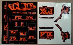 Fox Decal Kit Gabel + Dämpfer 2016 orange