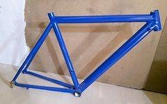 Marke Unbekannt Italienischer Rennrad Rahmen Alu Blau *neu*