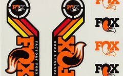 Original Fox Racing Shox Decals AM Heritage Aufklebersatz für Federgabel Dämpfer * ORANGE *