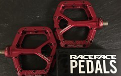Race Face Atlas Plattform/Flatpedale in rot
