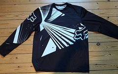 Fox Freeride Long Sleeve Gr. XL schwarz/weiß