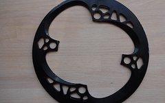 Absolute Black absoluteBLACK Kettenblattschutzring / Bashguard / Bashring für Kettenblätter mit 34-36 Zähnen, 4-Loch, 104 mm, schwarz