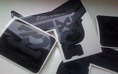Gabeldecals Fox 32 2017 Edition Gabel Dekor Satz - STEALTH BLACK Design