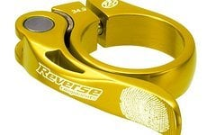 Reverse Components Sattelschelle LONG LIFE Ø 34.9mm Gold Seatclamp with brass washer- LONG LIFE clamp 46g