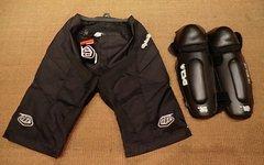 Troy Lee Designs Moto Shorts Black, 32 M, neu mit gebrauchten TSG Knieschonern