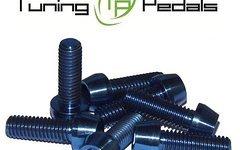 Tuning Pedals Titan Schraube M6 x 10 / 12 / 14 / 16/ 18 / 20 / 25 / 30 / 3 / 40 / 45 / 50 / 55 / 60 / 65 / 70 / 75 / 80 mm, Grade 5, DIN 912 konisch - blau
