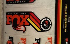 Fox Kit stickers decal Heritage 2015 Fork and Rear Shock Orange