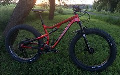 Salsa Bucksaw Carbon Split Pivot Full Suspension Fatbike Fully - Transparent Red