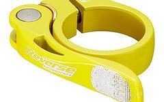 Reverse Components Sattelschelle LONG LIFE Ø 34.9mm Yellow Seatclamp with brass washer- LONG LIFE clamp 46g
