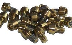 Tuning Pedals Titan Schraube M6 x 10 / 12 / 14 / 16/ 18 / 20 / 25 / 30 / 35 / 40 / 45 / 50 / 55 / 60 / 65 / 70 / 80 mm, Grade 5, DIN 912 konisch - gold