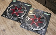 Reverse Components 203mm Discs Bremsscheiben ROT *NEU*