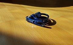 Acor Sattelklemme 34,9mm blau superlight 23 Gramm neu!