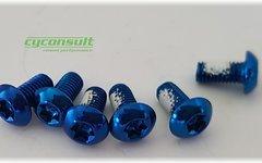 Cyconsult® Aktion! Bremsscheibenschrauben *blau* (Set / 6 Stück)