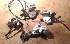 Shimano Deore 3x9 Schalteinheit SL-R440 / RD-M591 Ganganzeige