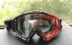 Oakley Mayhem MX + Tear-Offs + schwarzen Glas