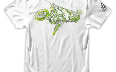 Troy Lee Designs MOTO WHIP TEE WHITE Gr. L