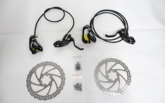 Aest Mountainbike Disc Scheibenbremsset 160/160 mm schwarz (MTB disc brake set)