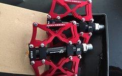 RB Pedale ROT Fahrradpedale Radpedale MTB Freeride Downhill
