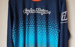 Troy Lee Designs Downhill-Jersey Sprint Starburst - Navy/Orange