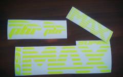 Gabeldecals Cannondale Lefty Supermax 160 Gabel Dekor Satz - Neon Gelb
