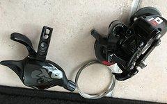 SRAM XO DH 10-fach Schwaltwerk shortcage mit XO Trigger und Schaltzug