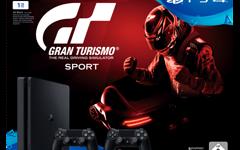 Sony PlayStation 4 Slim 1TB inkl. Gran Turismo Sport + 2 x DUALSHOCK®4 Wireless Controller