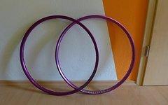 """Sixpack Resident + Superstar Felge purple 26"""""""
