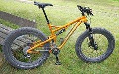 Salsa Cycles Bucksaw Gold Fatbike Fully - RH L - Variostütze, Service neu