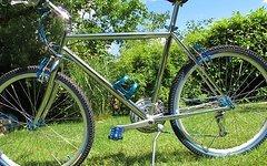 Cicli Hammer Retro Neuaufbau Cicli Stahlbike vollverchromt und türkis